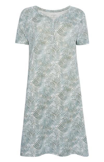 Spalna srajca s potiskom listov