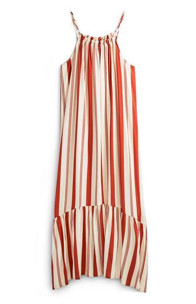 Striped Tier Maxi Dress
