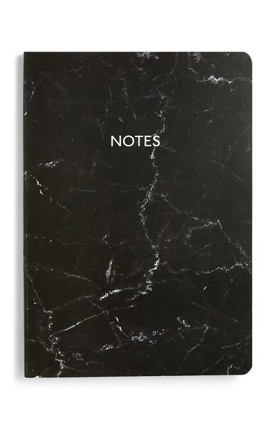 Quaderno A5 nero marmorizzato