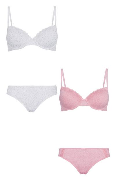 T-Shirt Bra And Brief Set