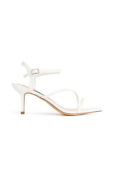 Witte sandaal met bandjes