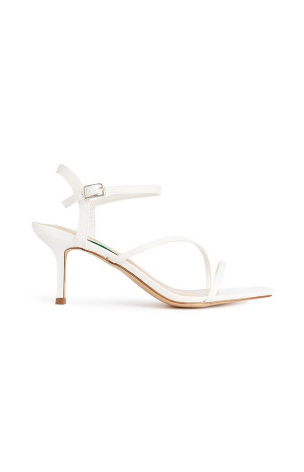 Sandálias tiras branco