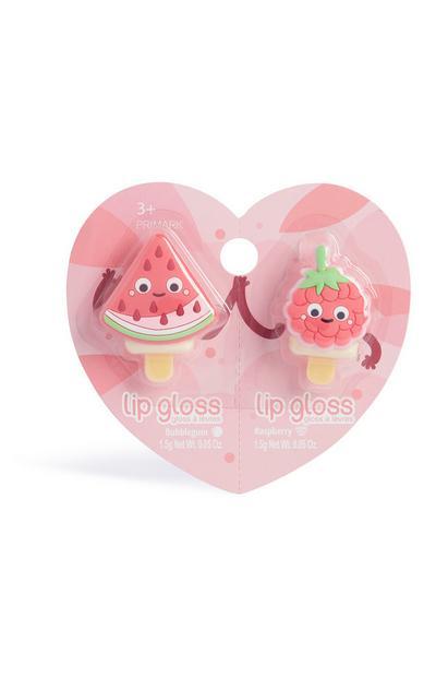 Pack de 2 brillos de labios Fruity