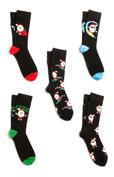 Pack 5 pares meias Natal