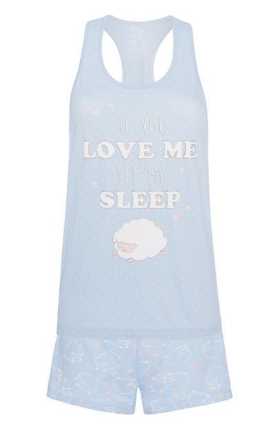 Pijama de oveja de 2 piezas