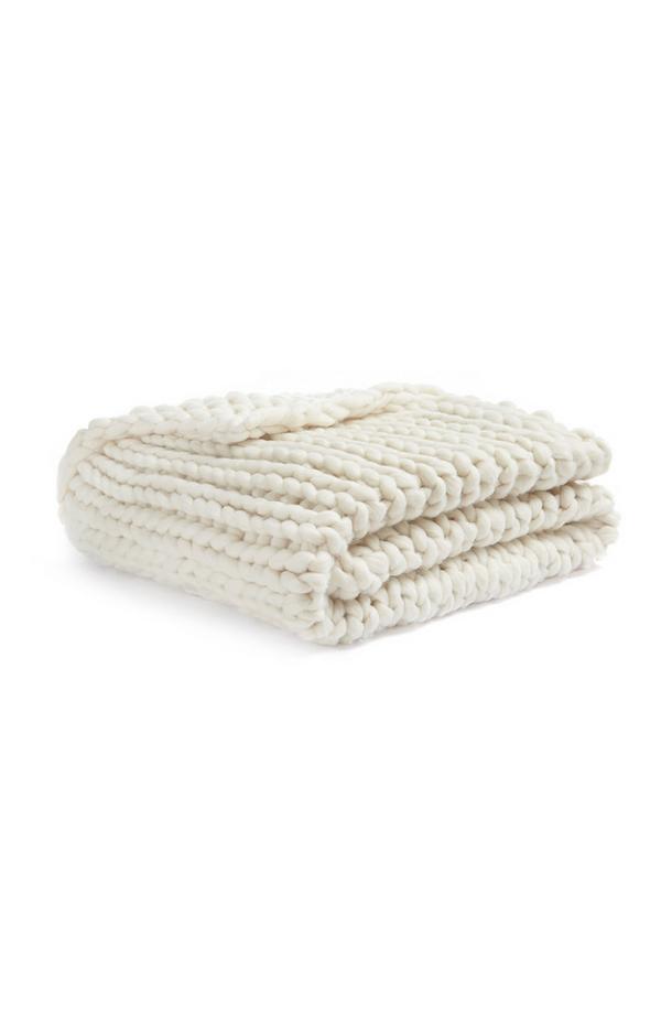 Plaid a maglia spessa