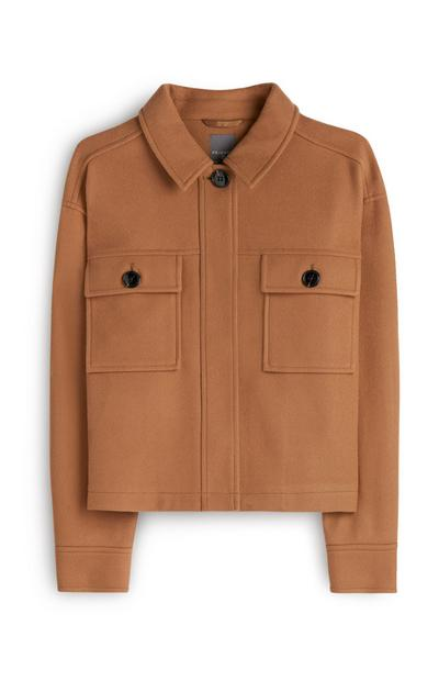 Brown Fleece Shacket