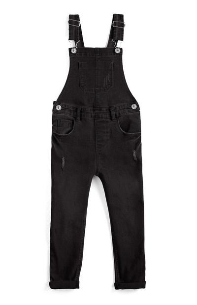 Older Girl Black Dungarees