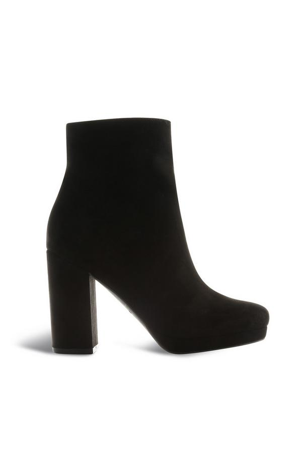 Bottines plateforme noires