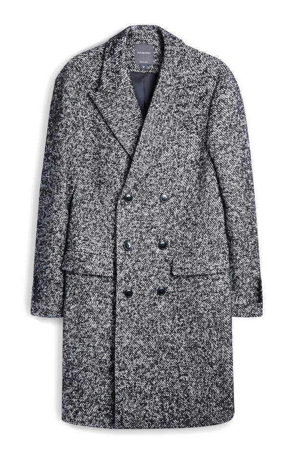 Textured Monochrome Coat
