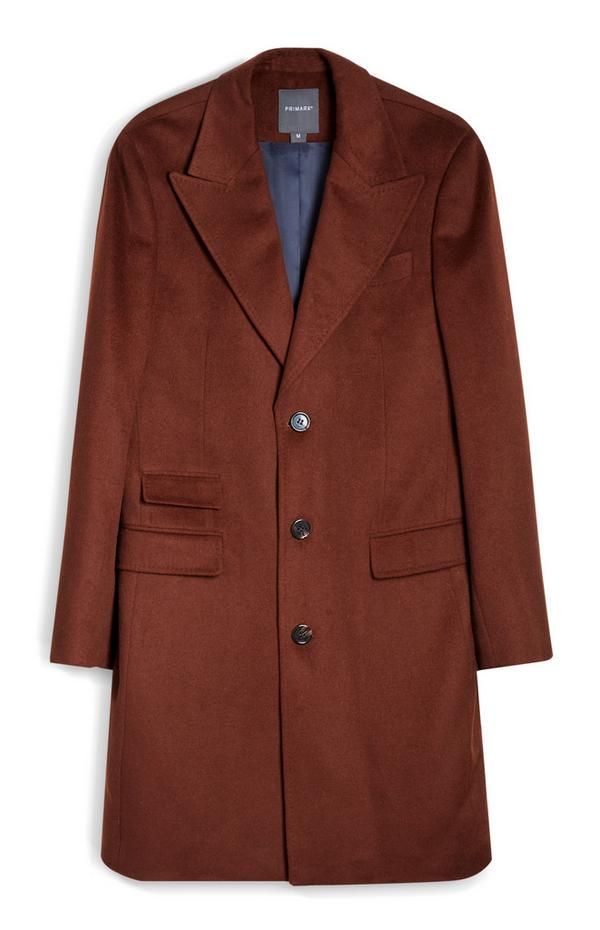 Brown Faux Suede Coat