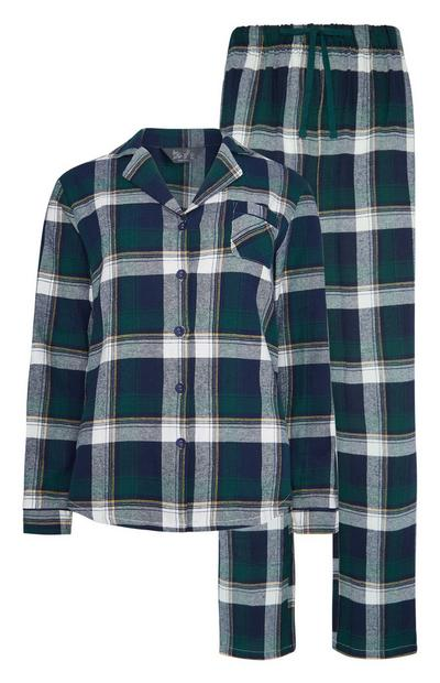 Pyjama vert à carreaux