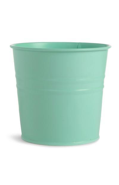 Pot pour plante en métal couleur pastel