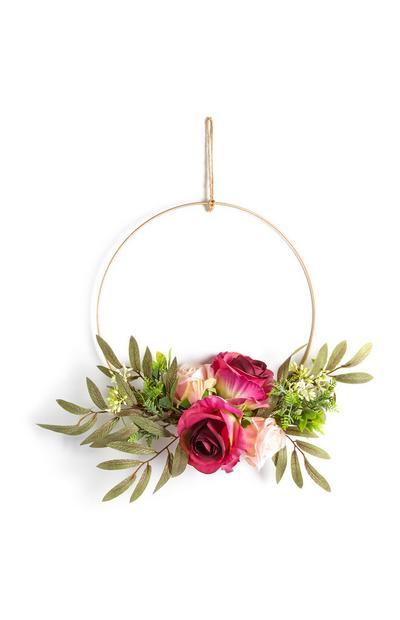 Decoración para colgar con flores sintéticas