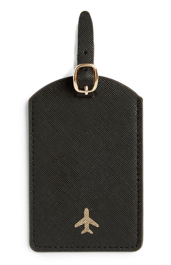 Etiqueta negra para el equipaje