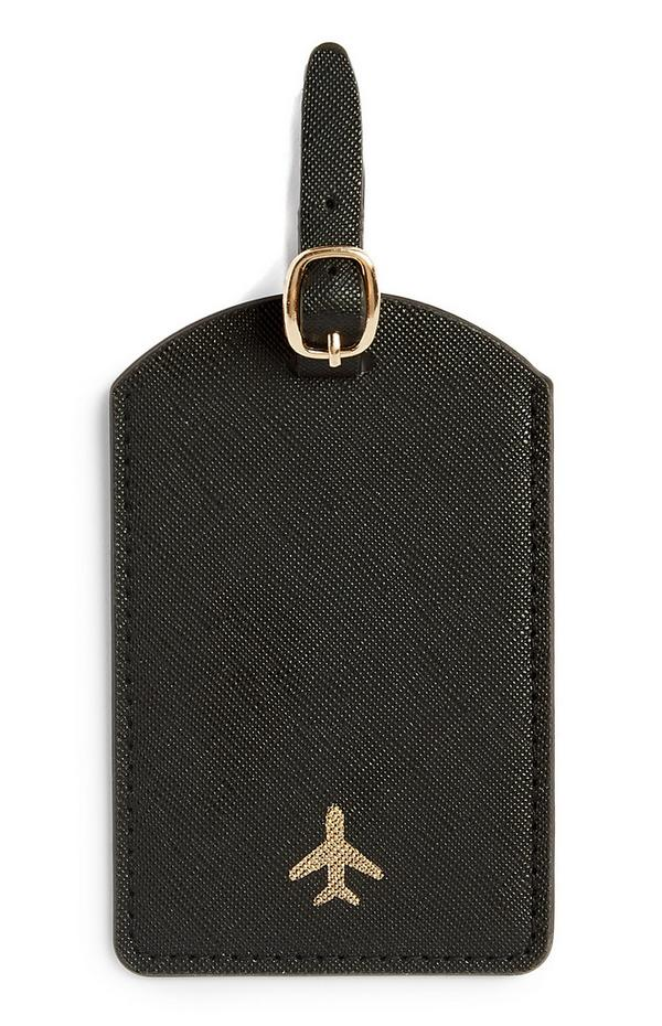 Zwart bagagelabel