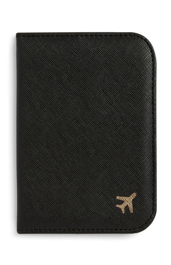 Suporte passaporte preto