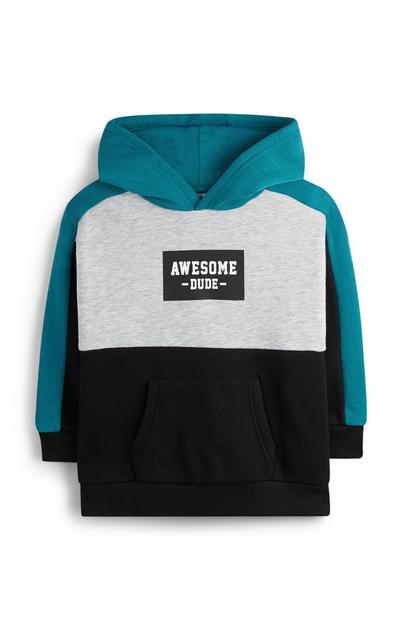 Blauer Pullover im Farbblock-Design (kleine Jungen)
