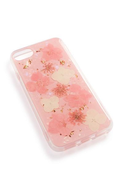 Carcasa para el móvil en rosa claro con foto