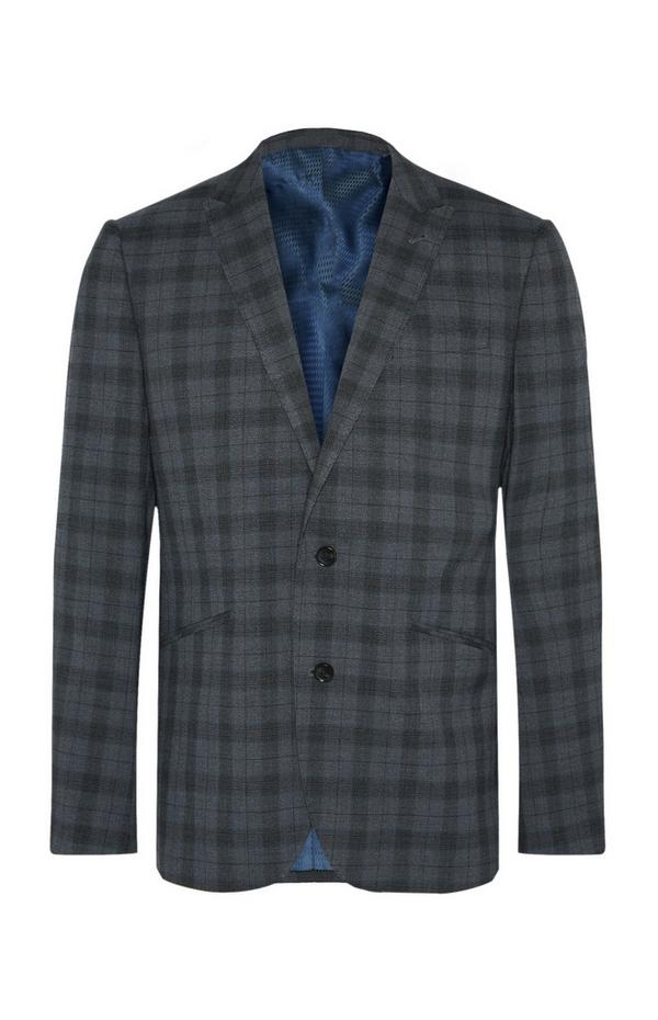 Charcoal Check Suit Jacket