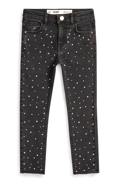Younger Girl Grey Diamante Jeans