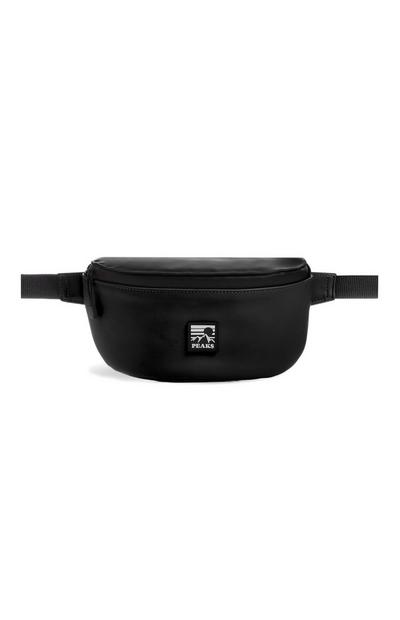 Black Premium Rubber Fanny Pack
