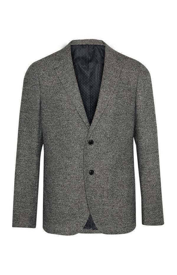Siv teksturiran suknjič