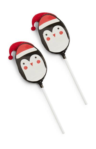 Christmas Penguin Chocolate Lolly 2Pk