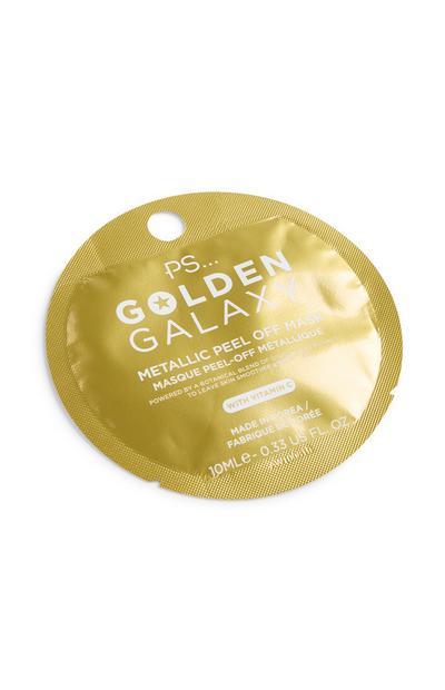 Máscara película metalizado dourado