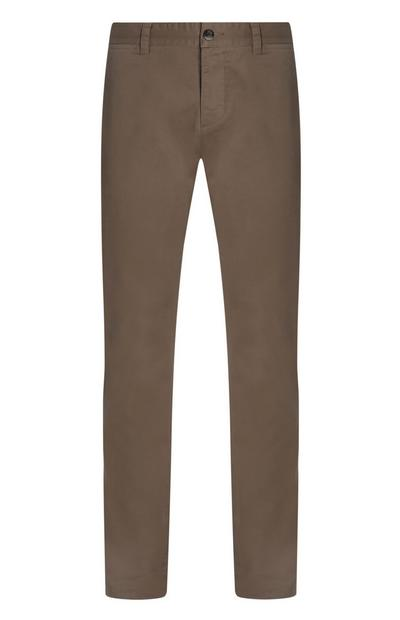 Graue Slim-Fit-Chino mit Stretch