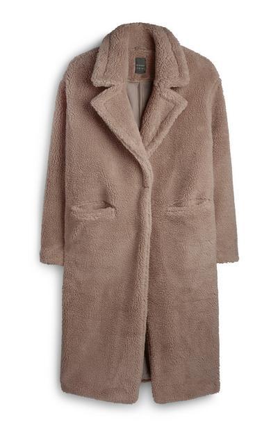 Abrigo de pelo marrón claro