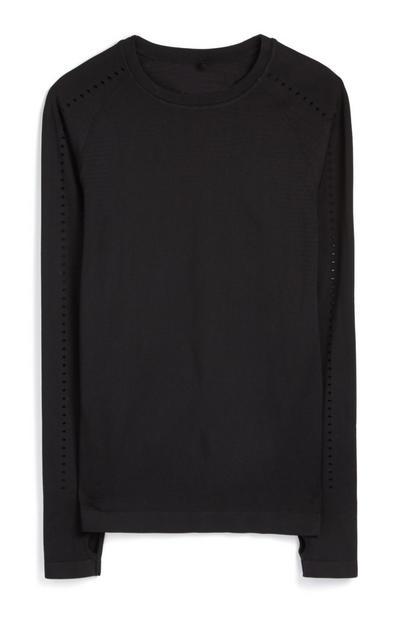 Zwart T-shirt met lange mouwen