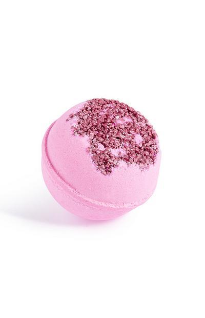 Bruisbal met roze stippen