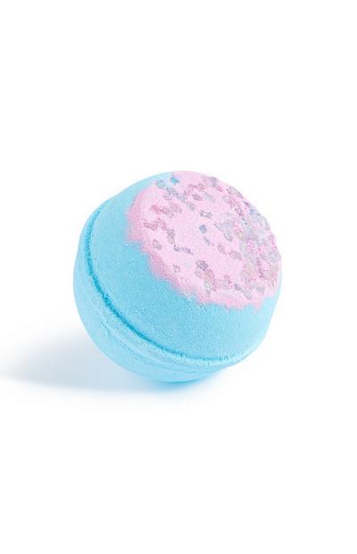 Bomba de baño azul granulada