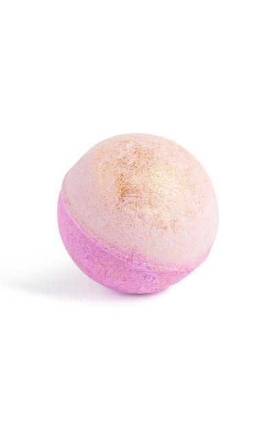 Bomba de baño con purpurina morada