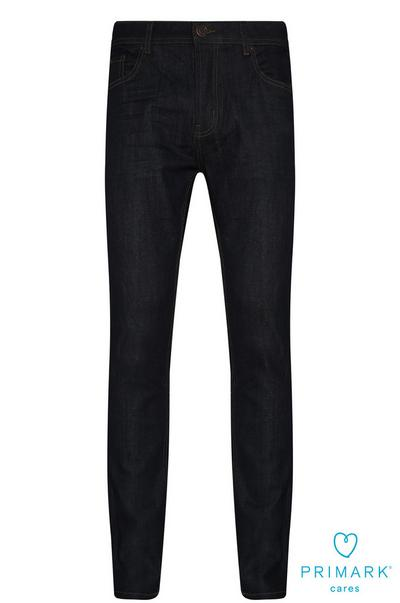 Donkerblauwe slim-fit stretchjeans