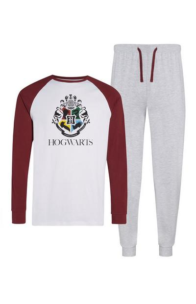 Pijama Hogwarts cinzento
