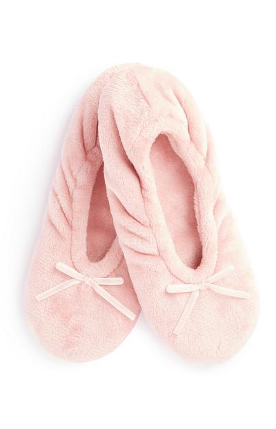 Chinelos baixos cor-de-rosa