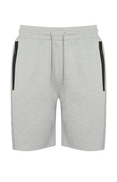 Korte broek van grijze jersey