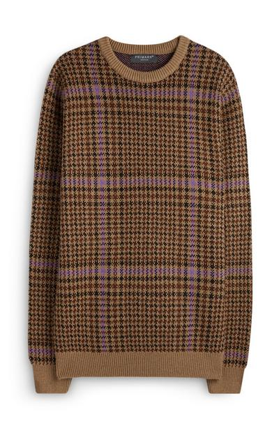 Brown Heritage Check Sweater