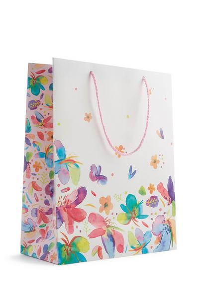 Saco presente padrão borboletas
