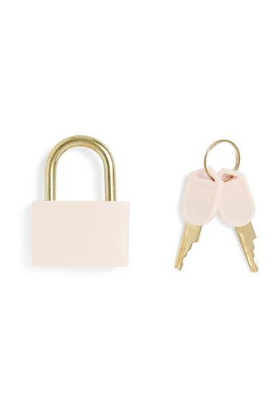 Cadeado cor-de-rosa