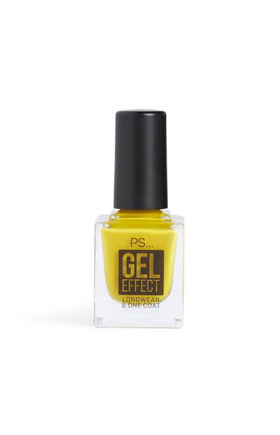 Mustard Gel Effect Nail Polish