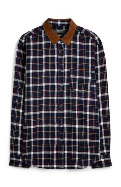 Check Cord Collar Shirt