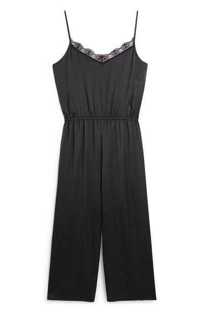 Satin Black Jumpsuit