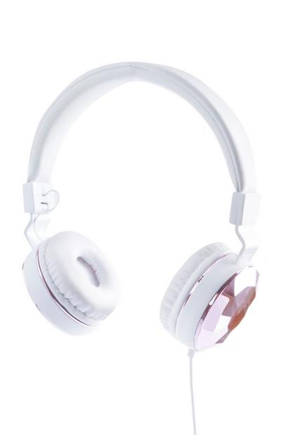 White Folding Headphones