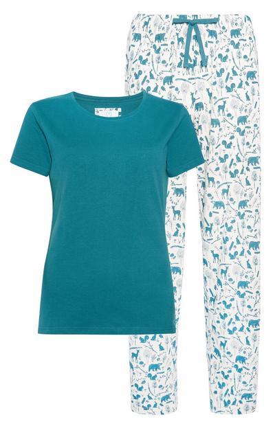 Sustainable Woodland Print Pyjamas 2Pc