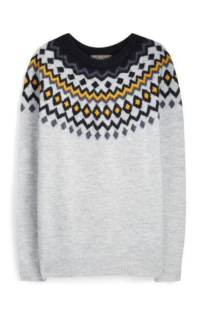 Pullover mit Norwegermuster
