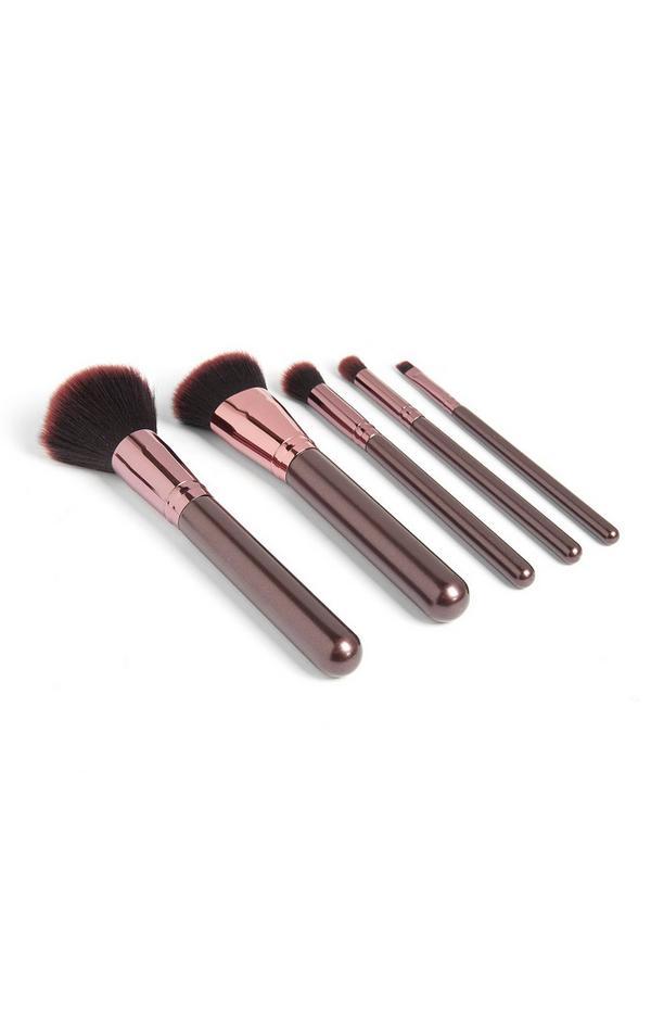 Pink Metallic Brush Set 5Pc