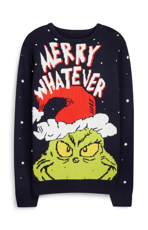 Jersey navideño con diseño de El Grinch